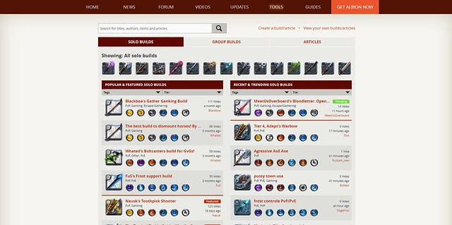 Albion Online: Character Builder Launched