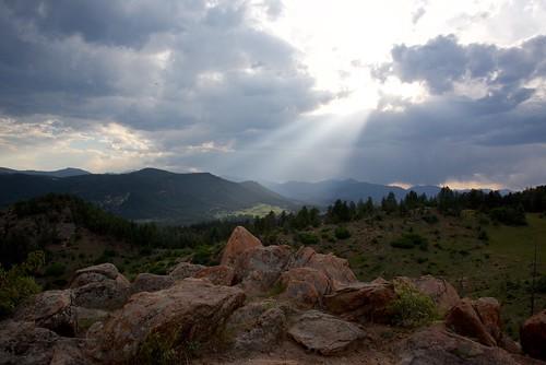 colorado us mtfalcon landscape sunset cloudy scenic sky rocks mountain nature park