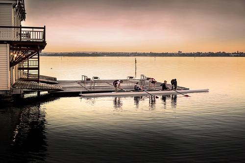 perth westernaustralia australia swanriver rowingclub boat competitiverowing rower river dawn landscape travel urban sony a7r ilce7r