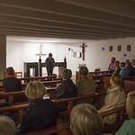 Visiting St Mungo's Church, Cumbernauld on walking tour   © Robin Mair