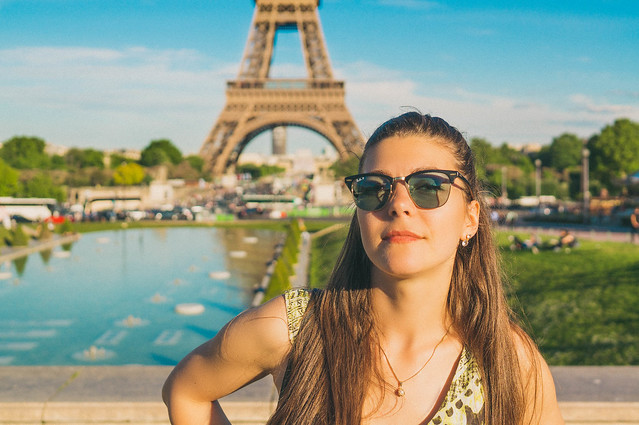 Eiffel tower portrait