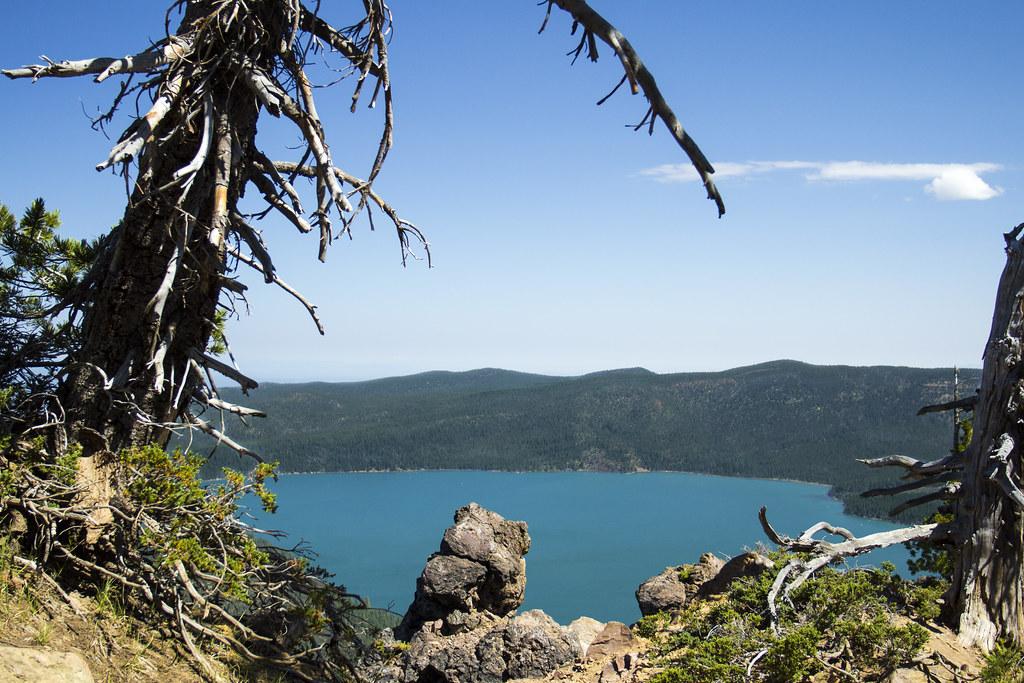 Paulina Lake from Paulina Peak, Oregon