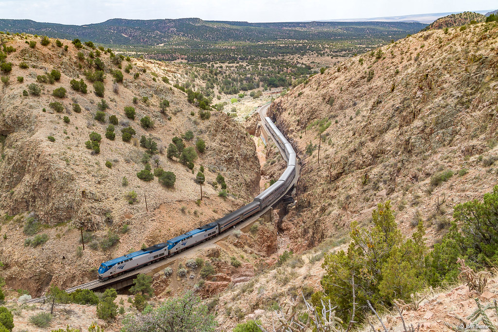 Amtrak #3 at Apache Canyon, NM | Amtrak train #3, the eastbo… | Flickr