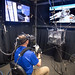 "NASA Astronaut Col. Tyler ""Nick"" Hague's progress is monitored on video screens during a virtual reality training scenario for use of the Simplified Aid for EVA Rescue (SAFER) pack to return to the International Space Station at the virtual reality lab at Johnson Space Flight Center in Houston, Tex., Apr. 26, 2017. (U.S. Air Force photo by J.M. Eddins Jr.)"