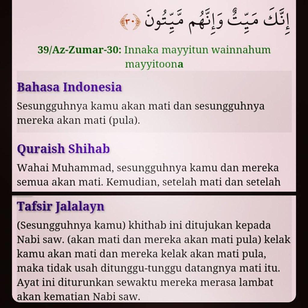Quran Surat Az Zumar Ayat 30 Ini Akan Menjadi Ayat Yang S