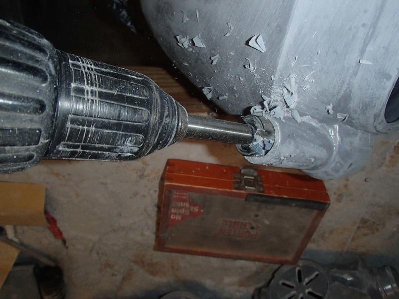 Drilling Hose Holes at Rear