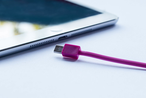 Pink USB cable for smartphone