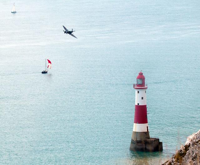 MK356 Spitfire IXe Beachy Head Eastbourne Airshow