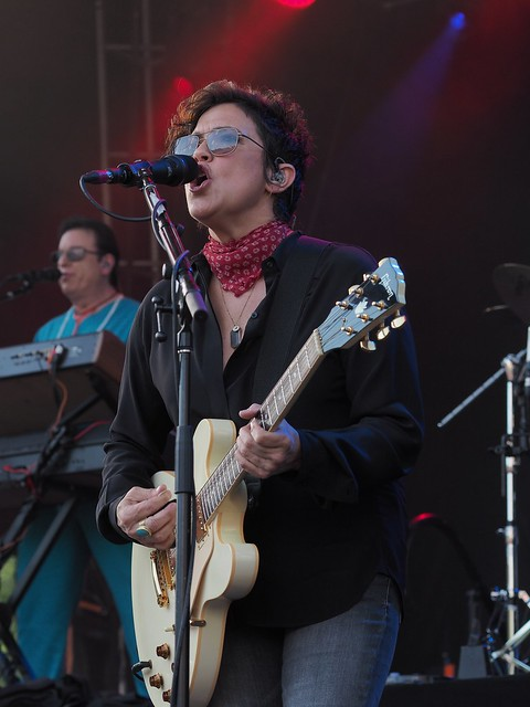 Wendy Melvoin of The Revolution, with Matt Fink on keyboards.