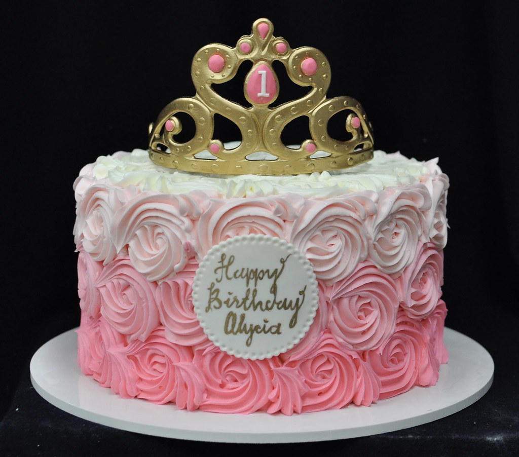Miraculous Tiara Rosette First Birthday Cake Jenny Wenny Flickr Funny Birthday Cards Online Inifofree Goldxyz