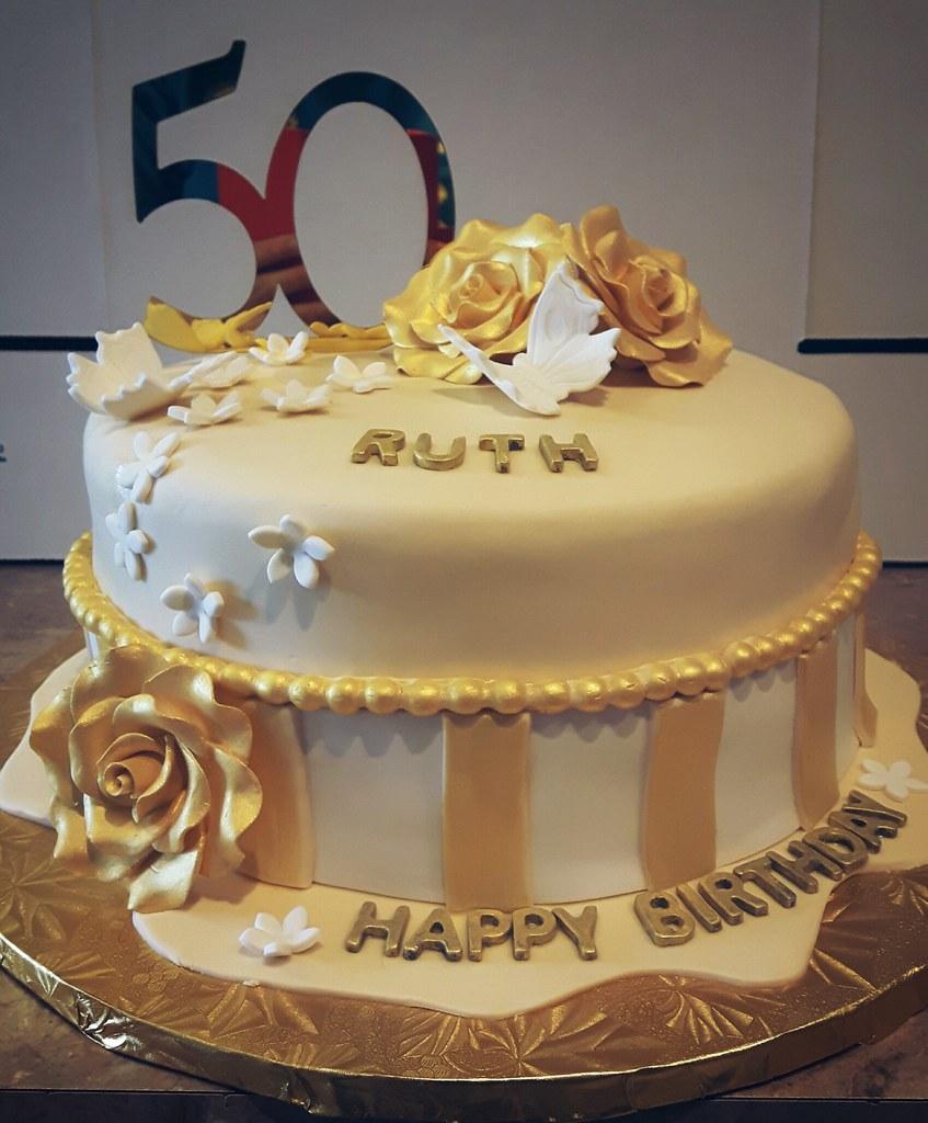 Golden Birthday Cake Ordered By Angela Anjorllnda For Her