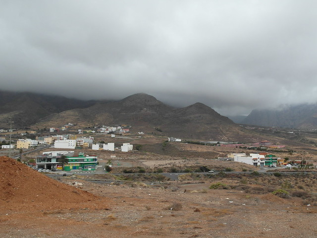 North of Gran Canaria in cloudy weather