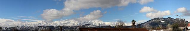 La cordillera y  cerros de Recoleta post nevazón.