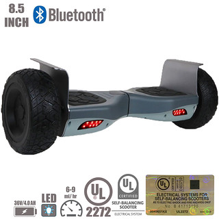 UL2272 8.5 inch Bluetooth Hoverboard Off-Road Electric Self Balancing Scooter Gray | by dianat1989