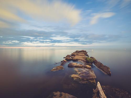beach sunset cleveland edgewater edgewaterstatepark ohio nature lakeerie metroparks