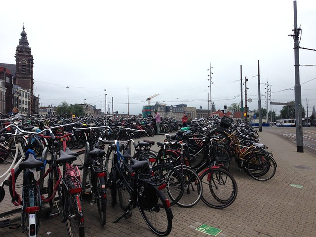 Bicycle parking at Amsterdam Central Station