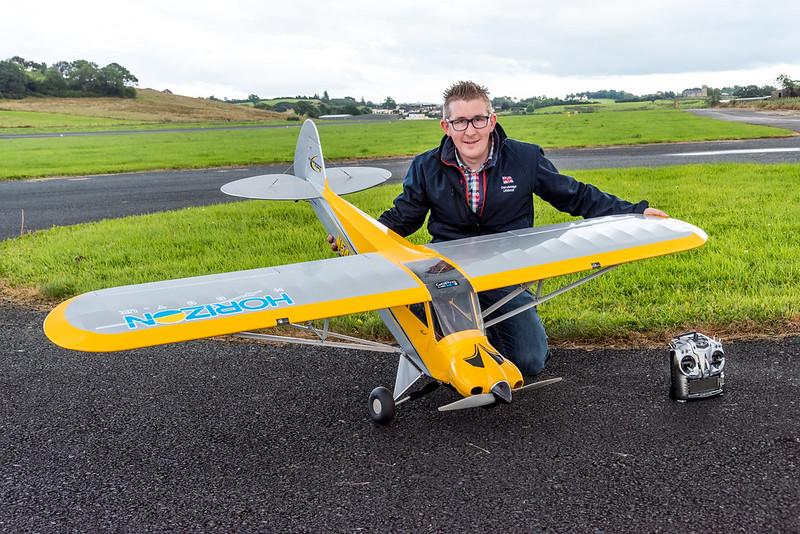 Stevie with my Hangar 9 Carbon Cub 15.