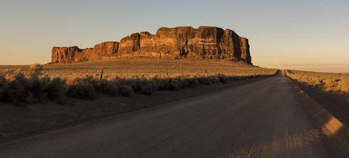 fortrock oregon easternoregon desert geologicalformations sunset goldenhour leadinglines