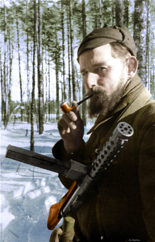 Commander of the partisan detachment Dmitriev, 1942