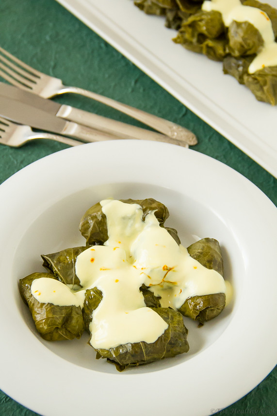 Stuffed Vine Leaves (Dolmadakia) with Crabmeat & Rice – Ντολμαδάκια με Καβούρι