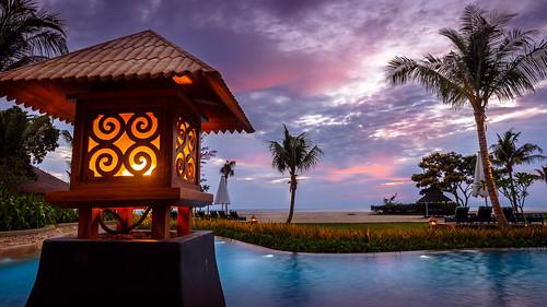 flickrfriday sightforsoreeyes beach evening lamp pool sky sunset water borneo sabah