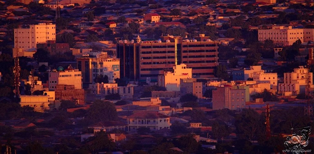 Golden hour  Downtown Hargeisa Somaliland.
