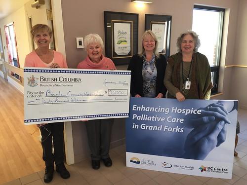 bcgovernment britishcolumbia bc hospice palliativecare lindalarson health hardyviewlodge grandforks boundarycommunityhospiceassociation