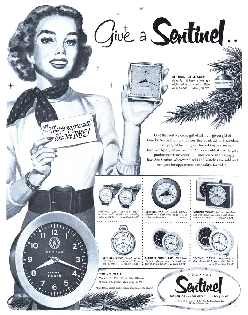 Sentinel/The E. Ingraham Company - published in The Saturday Evening Post - December 6, 1952