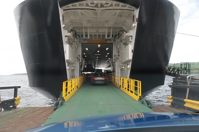 Embarking MV Finlaggan, Kennacraig