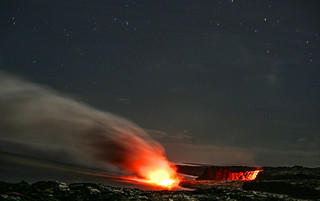 Lava Into the Sea at Night | by Rennett Stowe