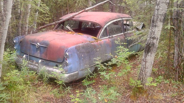 Abandoned old rusty Buick