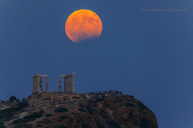 POSEIDON TEMPLE MOON ECLIPSE