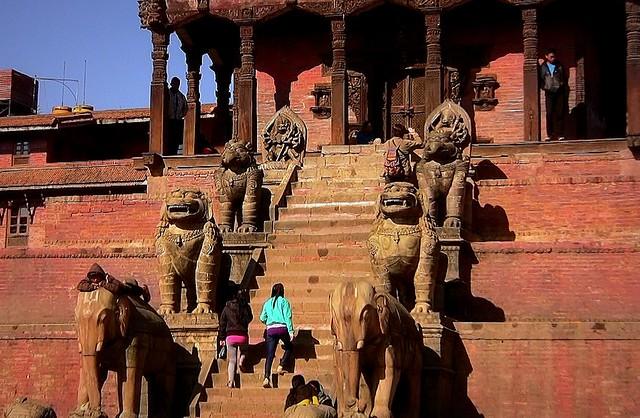 NEPAL Bhaktapur, Tempel , Pagoden usw., Nyatapola-Tempel, 16426/8737