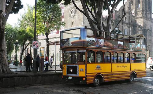 Le bus des vieux quartiers Puebla
