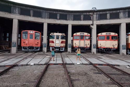 okayama tsuyama 扇形機関車庫 津山火車鐵道館 interesting 日本 japan 津山まなびの鉄道館