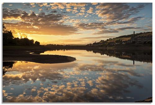 leeming reflection reservoir leemingreservoir water yorkshire sky sunset d600 ngc nikonfxshowcase nikkor1635mmf4 bradford oxenhope