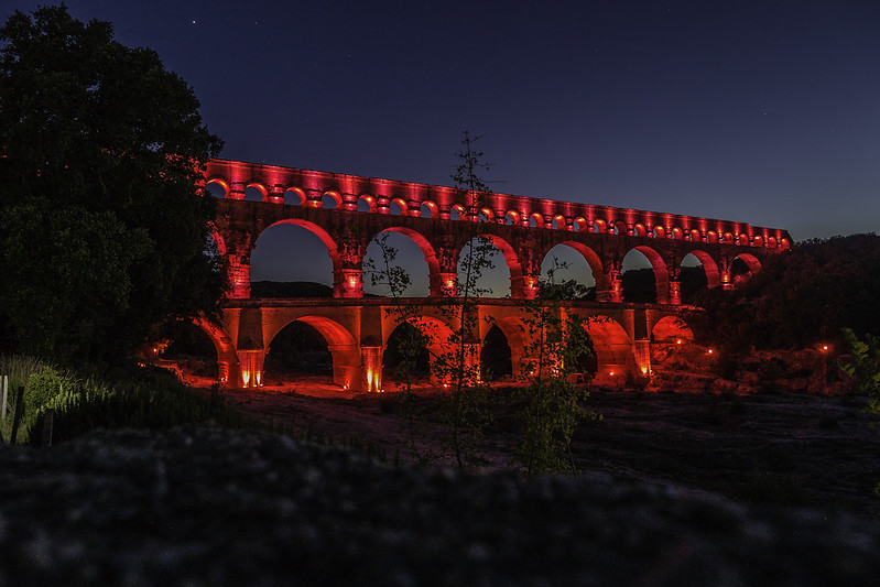 Magic light at Pont du Gard