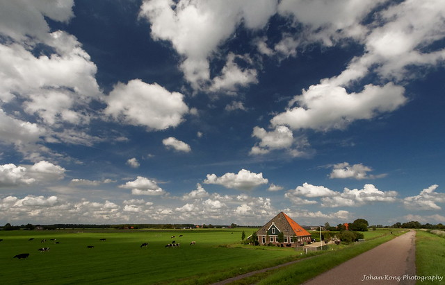 Beautiful Clouds over the Polder