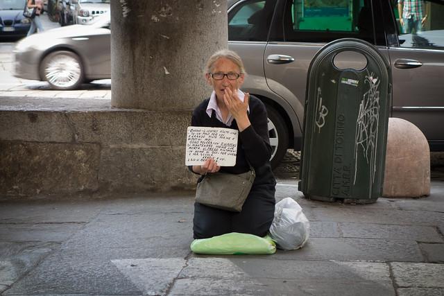 Berlusconi stole her bank account. Torino, June 2013.