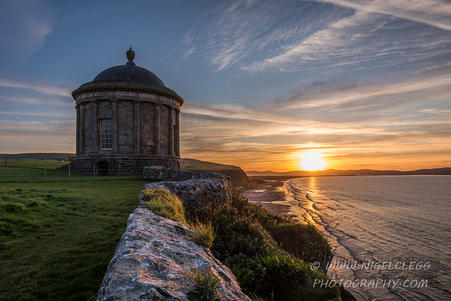 Sunset at Mussenden Temple