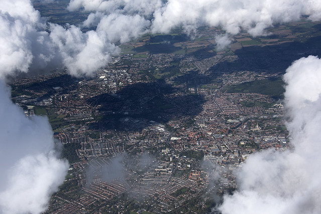 Norwich from 6500 feet - aerial