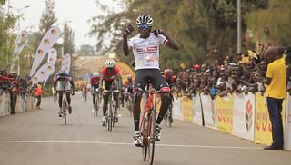 Valens Ndayisenga celebrates his victory in Race for Culture at Nyanza (Sam Ngendahimana) (2) | by RWANDA CYCLING FEDERATION (FERWACY)