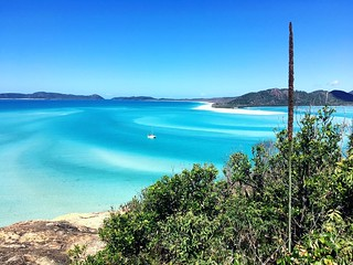 166/365 • the view from the lookout - out of sight to the right is Hill Inlet where we've been for the last five days *heavenly* - straight ahead is Whitehaven Beach • . #whitsundayisland #hillinlet #wwsa #sailing #queensland #abcmyphoto #bellalunaboat #c | by miaow