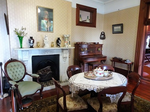 Brisbane. Dining room or breakfast room of historic Newstead House built from 1845. This is a late 19th century room. | by denisbin