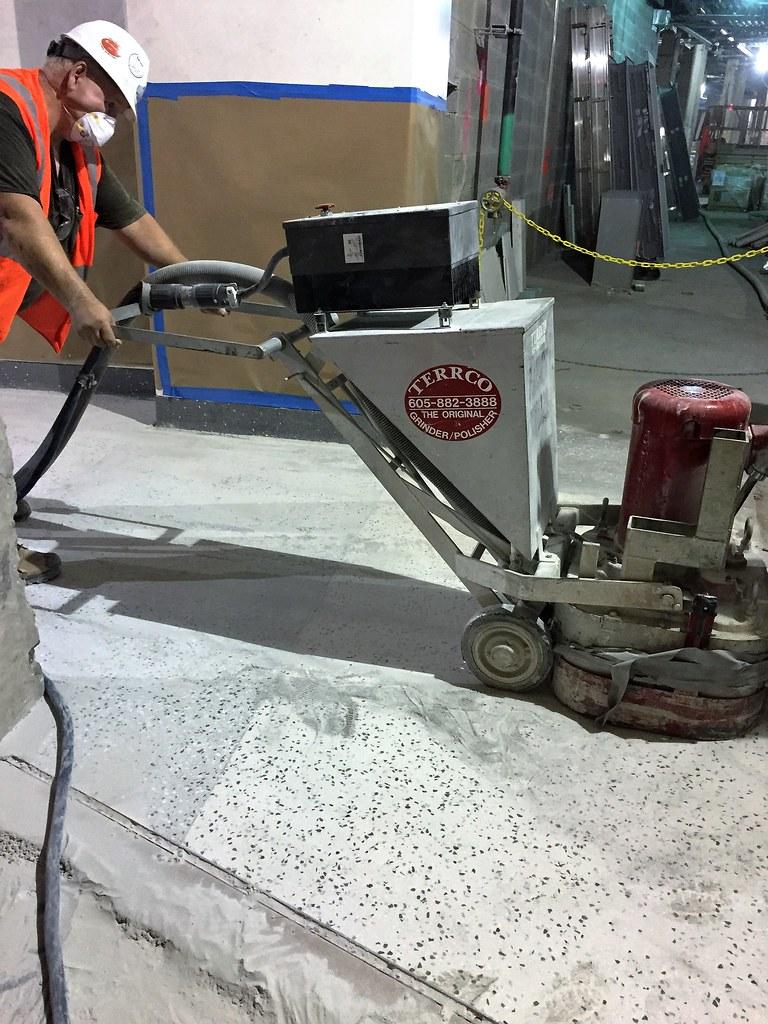 Cm014b Dry Grinding Epoxy Terrazzo Floor Mockup 08 21 2