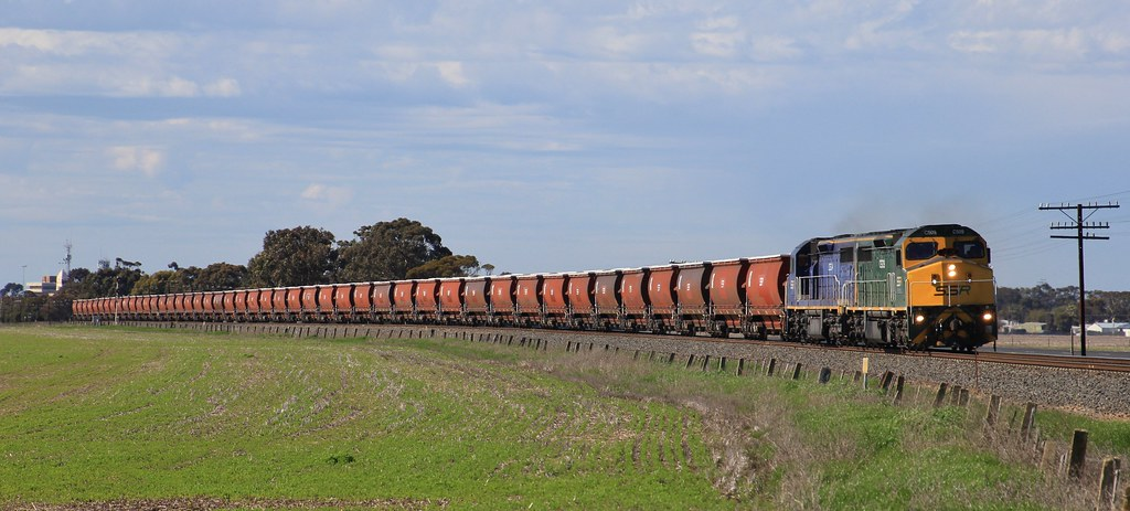 C509 and C504 power out of Horsham on an empty SSR grain to Dimboola by bukk05