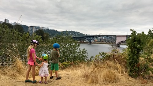 My Three Bikers Overlooking the Willamette | by tadnkat