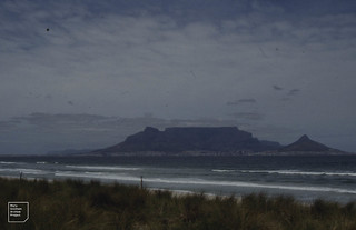 Table Mountain from Blouberg Beach on Atlantic to North. 1994