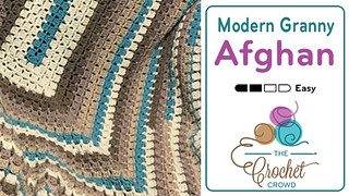 1 Modern Granny Afghan by Jeanne Steinhilber | by The Crochet Crowd®