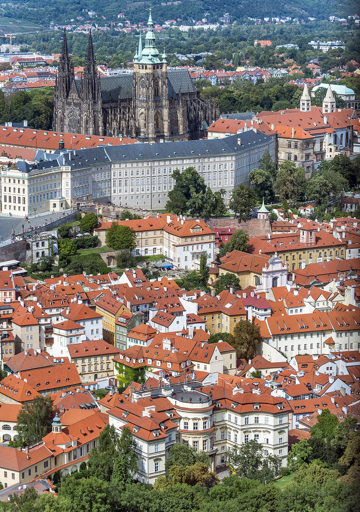 Prague's Castle District from Petrin Tower